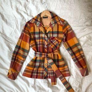 Tops - Vintage 100% wool flannel